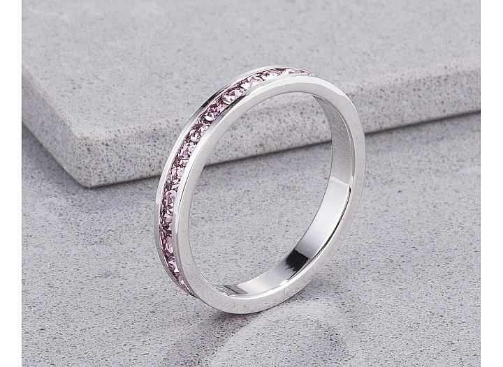 Sparkly Stackable Lavender Crystal Eternity Band